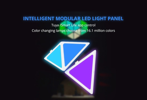 kit de 9 paneles led inteligentes zemismart tipo nanoleaf