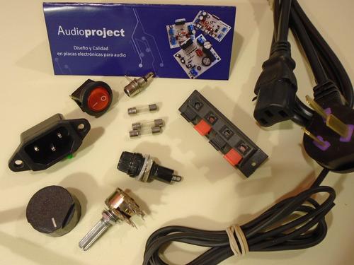 kit de accesorios amplificador estereo - audioproject