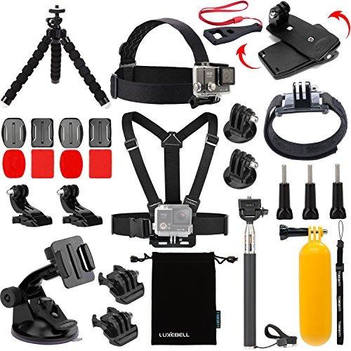kit de accesorios luxebell para cámara de acción  (14 artícu