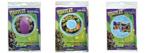 kit de accesorios ninja turtles diversión fiesta en la pisc