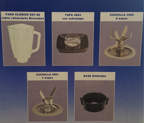kit de accesorios oster® originales para licuadoras clasica