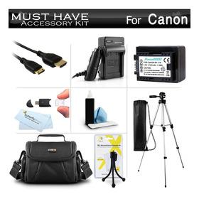 Kit De Accesorios Para Canon Vixia Hf R52, Hf R50, Hf R500,