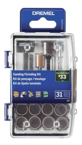 kit de accesorios para lijar afilar dremel minitorno 31 pzas