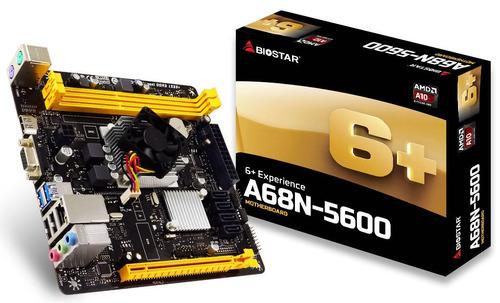 kit de actualizacion amd  a10 quad-core biostar a68n-5600
