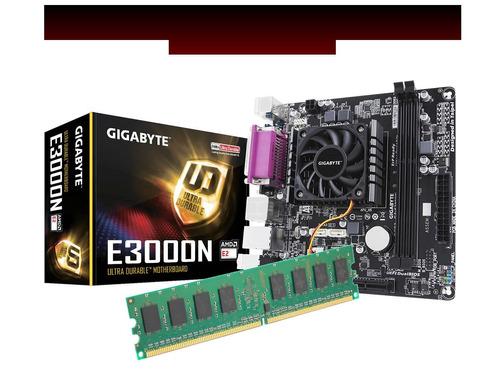kit de actualización e3000n  gigabyte dual core 4gb ram