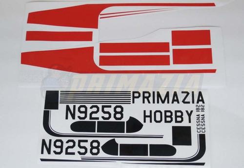 kit de adesivos decorativos cessna 182 120cm primazia hobby