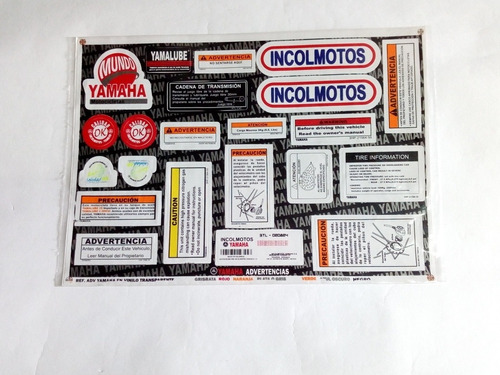 kit de advertencias calcomanías yamaha rx 115
