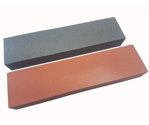 kit de afiar facas duas pedras temperadas vaselina 320 e 400