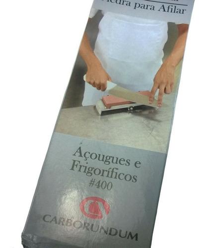 kit de afiar facas pedra carborundum 400 strop couro pasta
