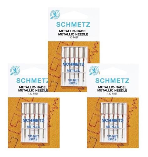 kit de agujas schmetz metallic para máquina familiar