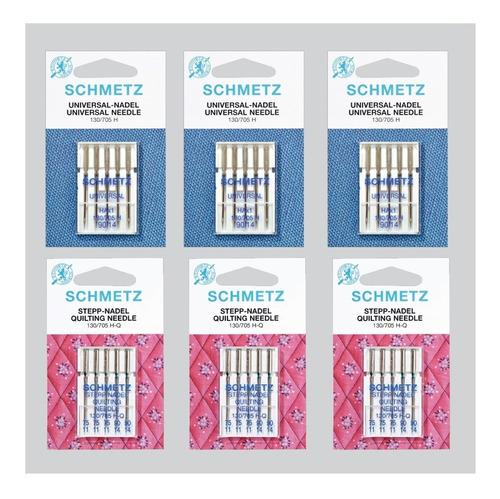 kit de agujas schmetz universal y quilting máquina de coser