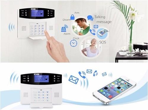 kit de alarma inalambrico inteligente gsm para casa locales