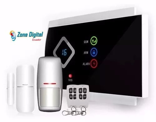 kit de alarma inalambrico inteligente gsm para casas/locales