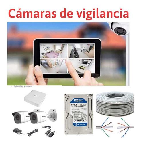 kit de alarma y kit de 2 cámaras