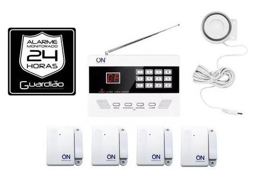 kit de alarme sem fio com discadora guardião on eletrônicos