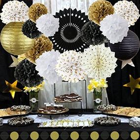 Kit De Año Nuevo Decoraciones Del Oro Negro Blanco El Partid