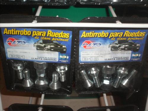 kit de antirrobos codificados para llantas de chery qq