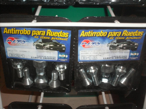 kit de antirrobos codificados para llantas de honda city