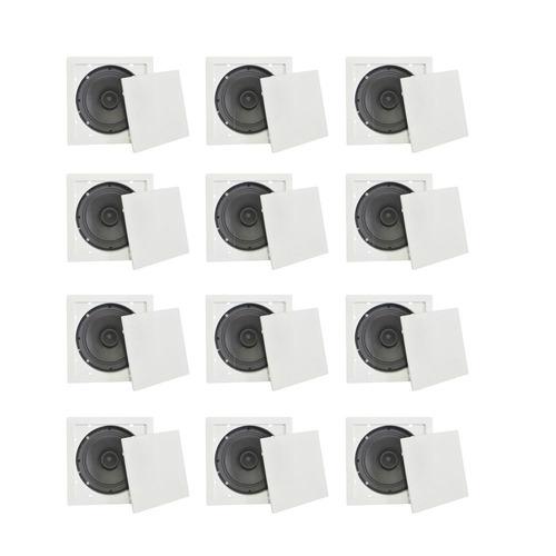 kit de arandela quadrada full range 6pol 30w fiamon (12 un)