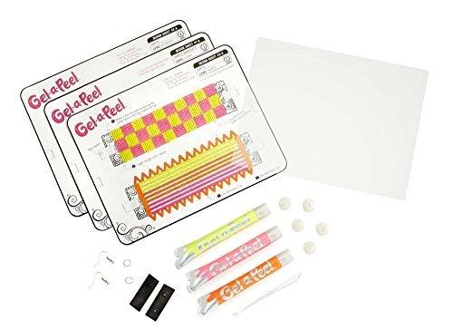 kit de artesanía de 3 accesorios gel-a-peel accesorio - neon