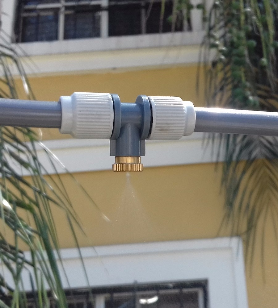 Kit de aspersores con rocio de agua para ventilador o - Ventilador de agua ...