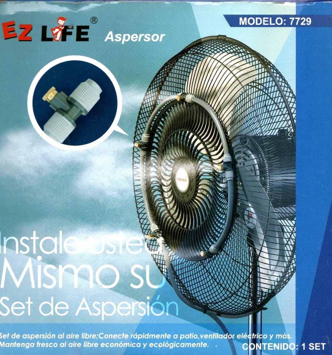 Kit de aspersores de agua para ventilador alberca jardin for Aspersores de agua para jardin