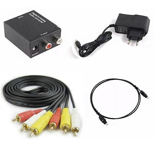 kit de áudio conversor óptico , digital para analógico  !