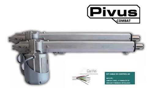 kit de automatizacion pivus combat 1/4hp seg + kit  de cable