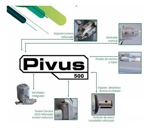 kit de automatizacion pivus combat 1/4hp seg +  traba