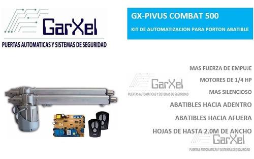 kit de automatizacion pivus combat + kit de cable + traba