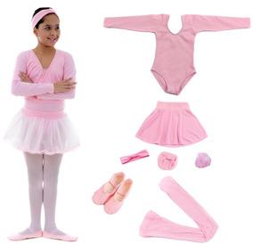c6eb0fc500 Kit Roupa Ballet Completo Inf no Mercado Livre Brasil
