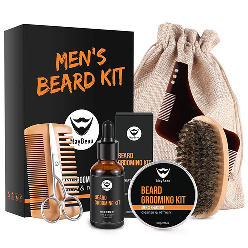 kit de barba para hombres 8 en 1 aseo y corte de barba