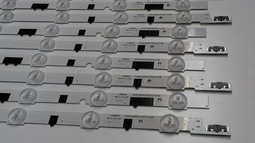 kit de barras led samsung un40f5500 un40f6400 (7 linhas)