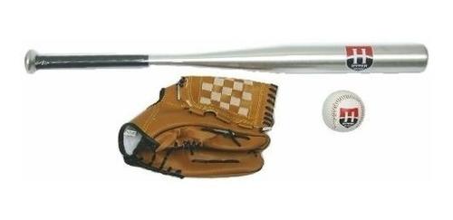 kit de baseball  alumínio c/ bola e luva hyper +nf