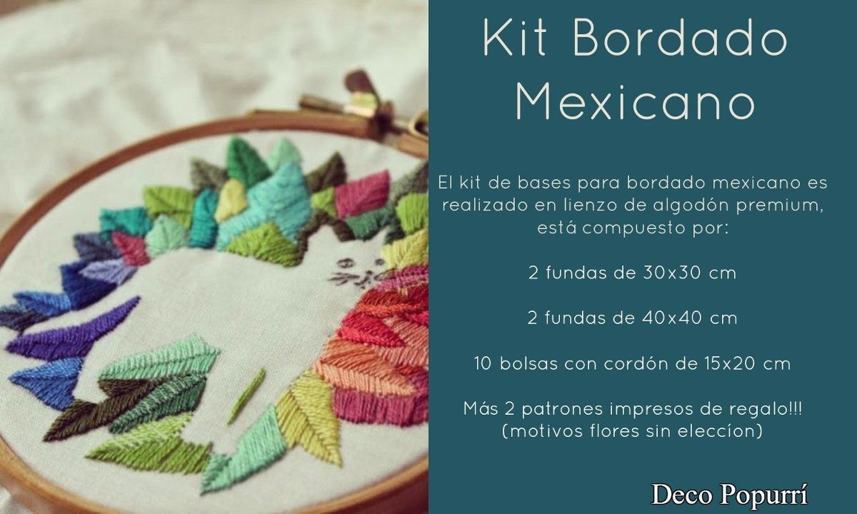 Kit De Bases Para Bordado Mexicano + 2 Patrones De Regalo!!! - $ 300 ...