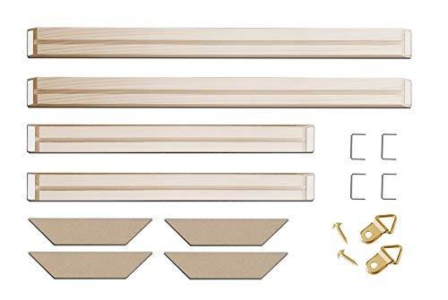 kit de bastidor para lienzo profesional, de madera, solido,
