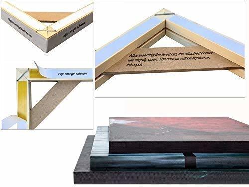 kit de bastidor para lienzo profesional de madera solido par