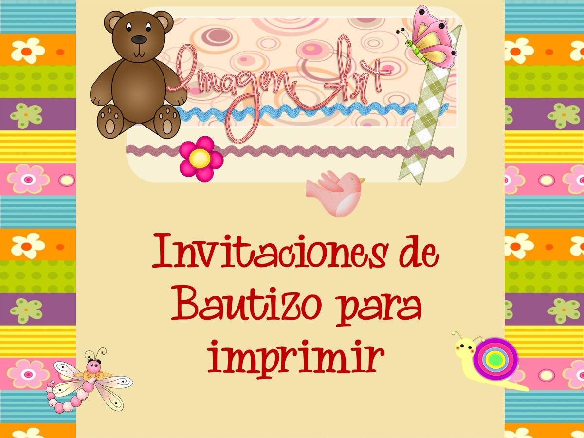 Kit De Bautizo Comunión Baby Para Imprimir Invitaciónes