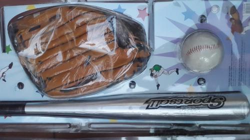 kit de beisbol sportsall ,guante,,pelota y bate nuevo