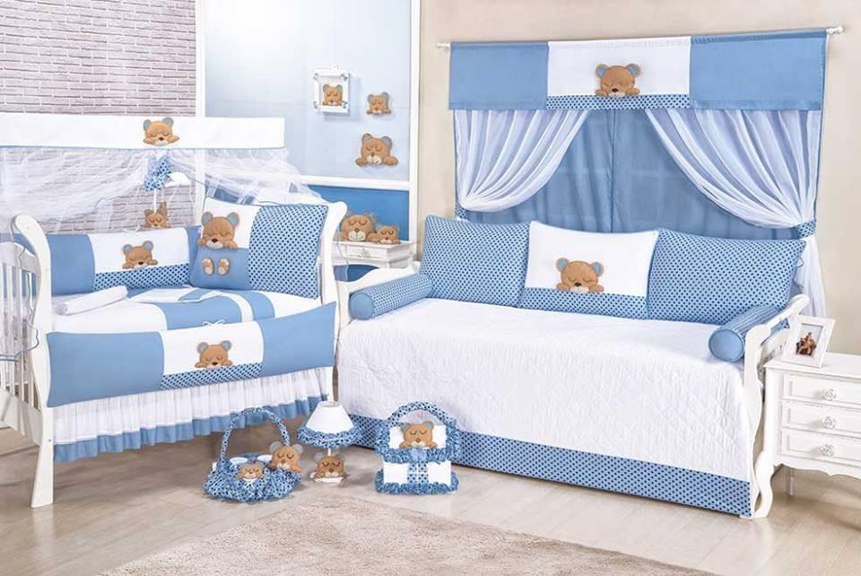 kit de berço ursinho dorminhoco enxoval quarto bebe 9 peças. Carregando  zoom. ade7a20d2e7