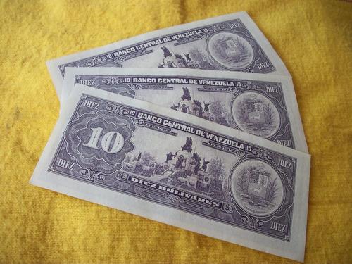 kit de billete coleccionables de 10 bs. fecha mayo -31-1980