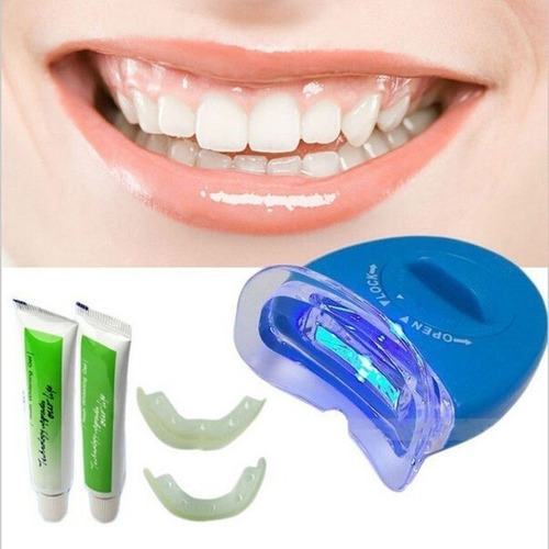 kit  de  blanqueamiento dental whitening + lampara led + set