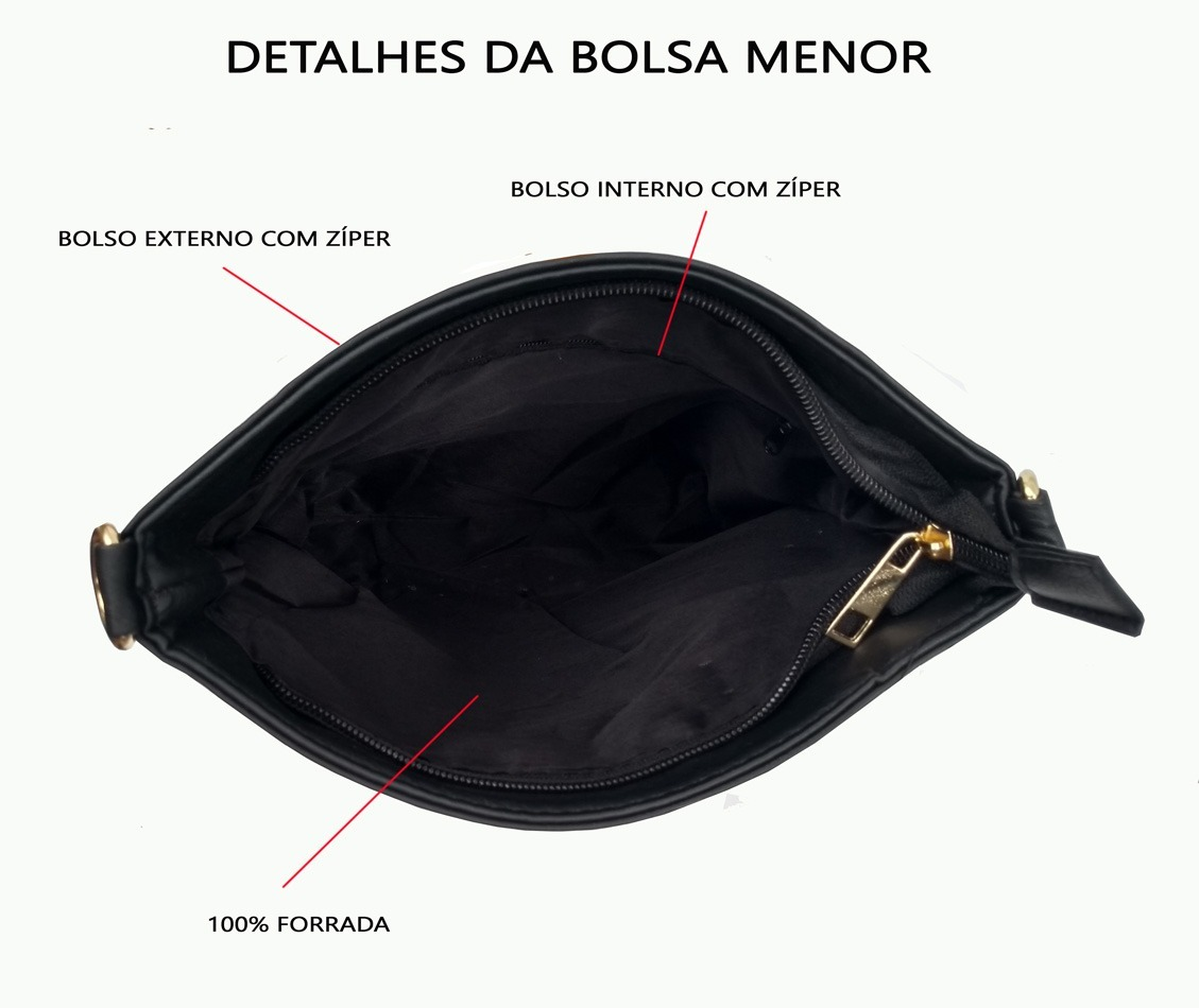 01434b9ff Kit De Bolsas Feminina 2 Peças Bolsa Barata Fg - R$ 120,00 em ...