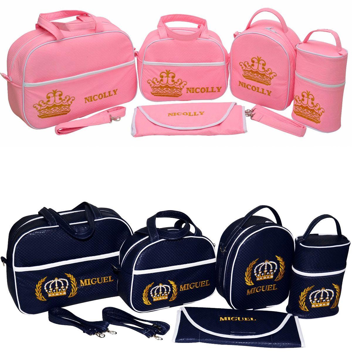 Kit de bolsas maternidade personalizada para bebe 5 for Kit para toldos de enrollar