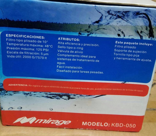 kit de bomba de presión para osmosis inversa hydrox mirage