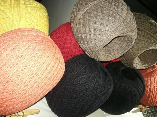kit de bordar completo lã + tela pintada + agulha manual f10