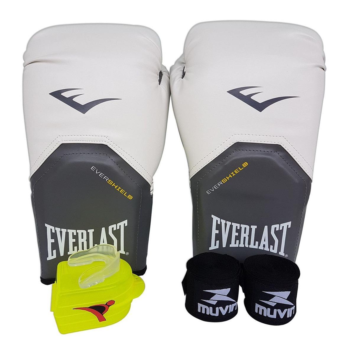 1ea90990d kit de boxe   muay thai 12oz - branco - pro style - everlast. Carregando  zoom.