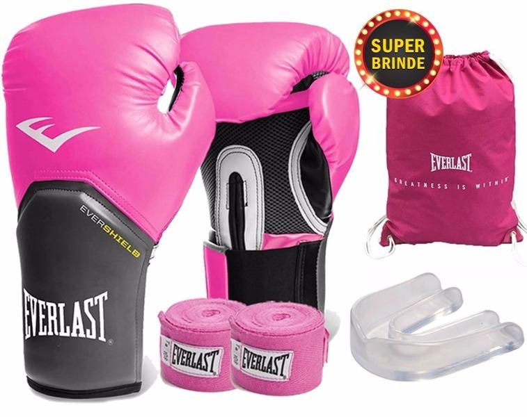 Kit De Boxe Muay Thai Everlast Luva 12 Oz Frete Grátis!!! - R  159 ... 3ed0194fd11dd