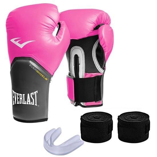 0d8787a32 Kit De Boxe Muay-thai Everlast Pro Style Elite Rosa - R  159