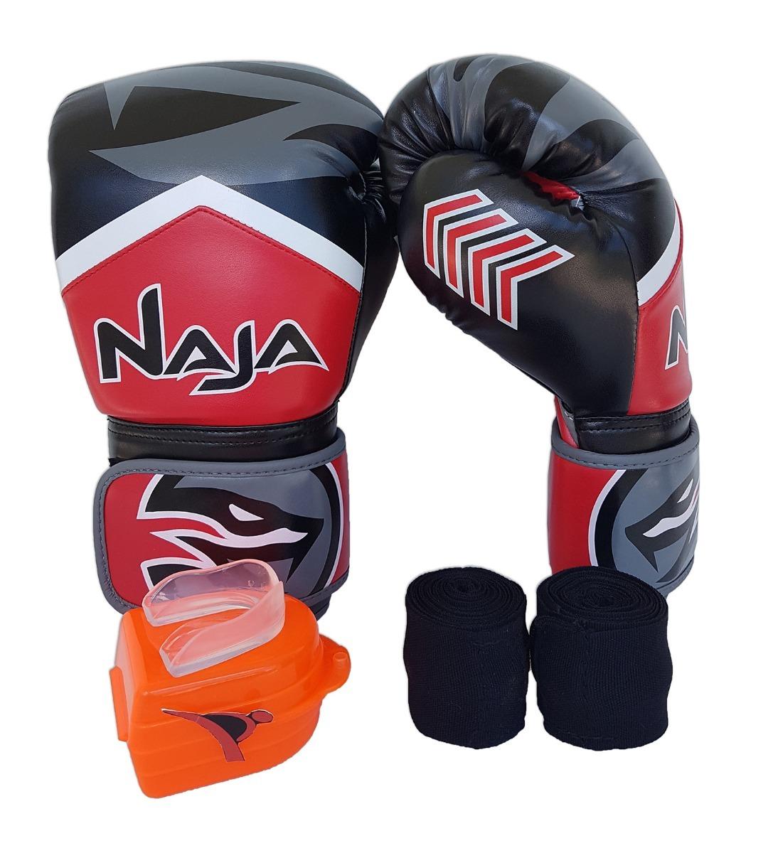 aac917f25 kit de boxe muay thai luva band bucal vermelho extreme naja. Carregando  zoom.